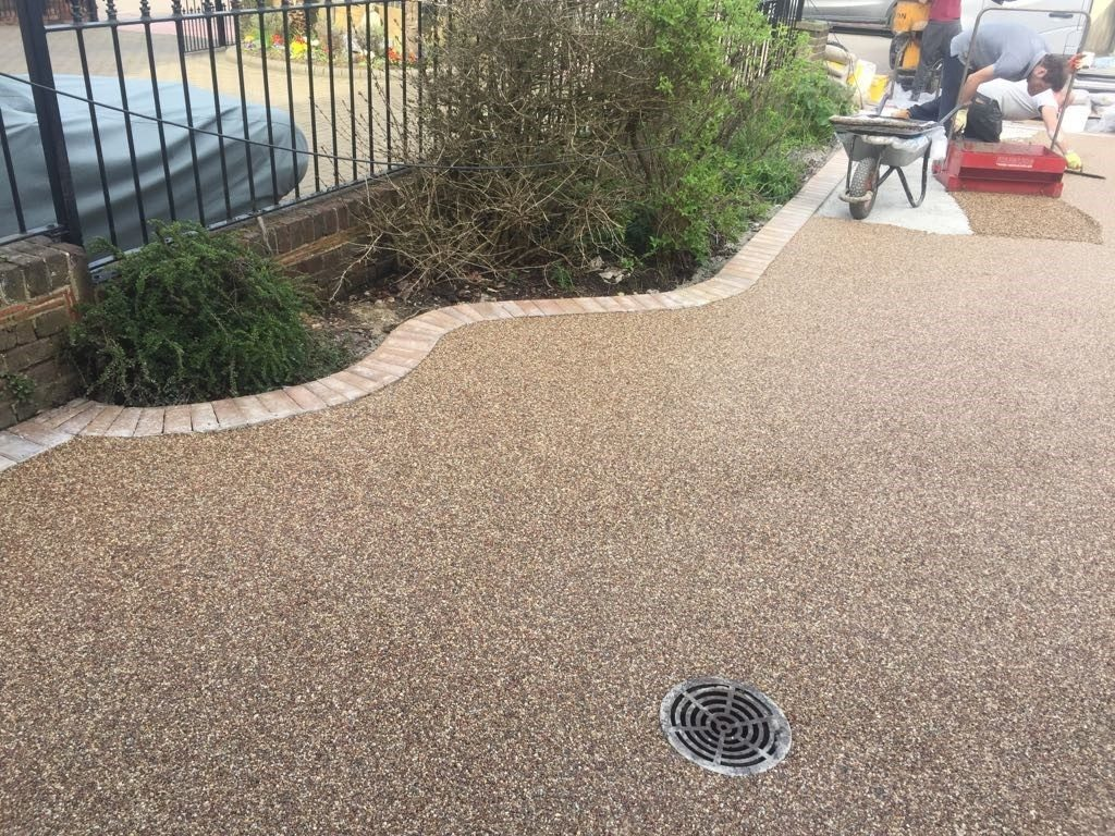 Resin Bonded Driveway Installation in Ansley