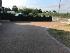 Resin Bonded Driveway Installation in Caldecote