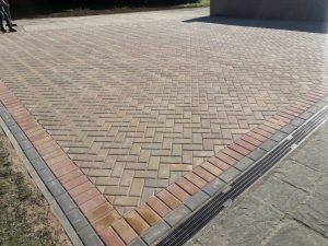 Driveway With Aco Drains For Surface Water