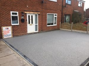 Silver Granite Resin Bound Driveway in Rugby