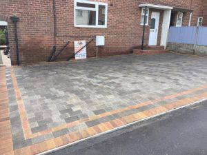 Charcoal and Bracken Block Paving Driveway in Nuneaton