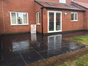 Marshalls Slate Slab Patio in Rugby